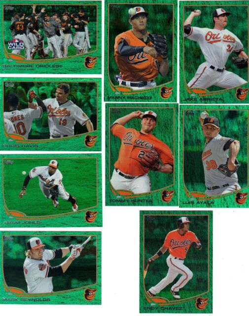 2013 Topps Series 1 Emerald Endy Chavez Baltimore Orioles # 309