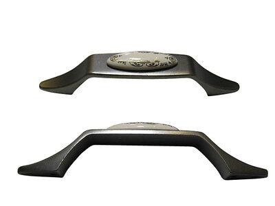 Möbelgriff Möbelknopf Möbelgriffe Möbelknöpfe Porzellan altsilber antiksilber
