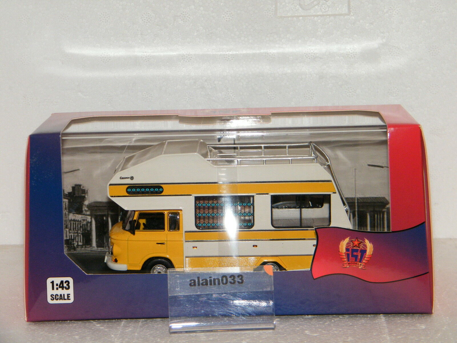 Prix ​​double section BARKAS BARKAS BARKAS B1000 CARAVAN 1973 Yellow Istmodels 1/43 Ref IST 298MR | Outlet Online Store