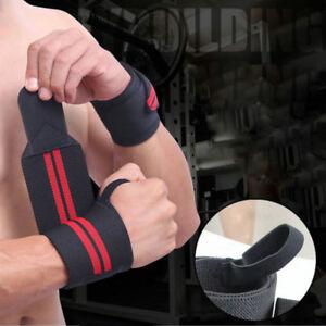 28ab1aa521 Weight Lifting Bar Straps Wraps Bandage Knee Wrap Gym Bodybuilding ...