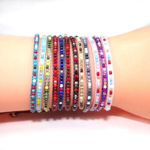 Handmade-Colorful-Hippie-Boho-Festival-Friendship-Seed-Bead-Braided-Bracelet