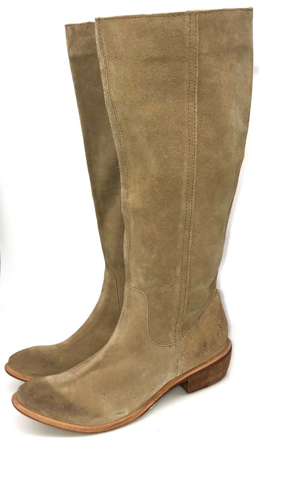 BRONX  Tall Knee High Suede Leather bottes Taille 41 Pull On Fashion