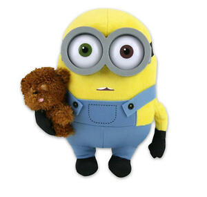 MINIONS-MOVIE-MINION-BOB-WITH-TEDDY-BEAR-10-034-PLUSH-GREAT-GIFT-NEW-WITH-TAGS