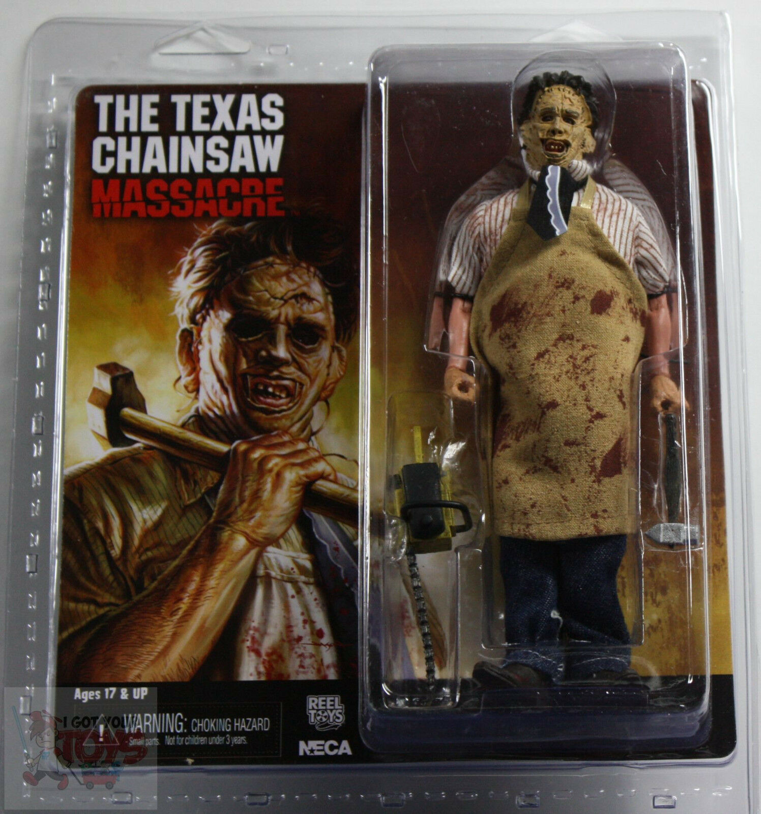 NECA LEATHERFACE CLOTHED Texas Chainsaw Massacre RETRO 8