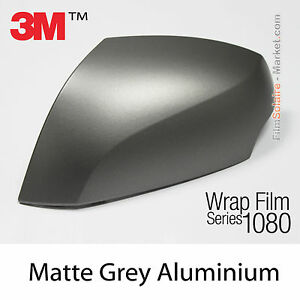 100x152cm film mat grey aluminum 3m 1080 m230 vinyl covering series wrapping ebay. Black Bedroom Furniture Sets. Home Design Ideas