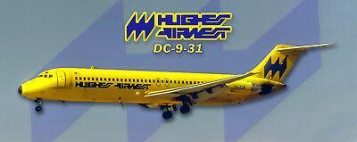 Hughes Airwest DC-9 Handmade Photo Magnet PMT1679