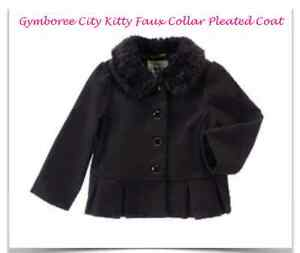 Gymboree Holiday Cozy Cutie Girls Size 2T 3T Coat Jacket Red Puff Faux  NWT NEW