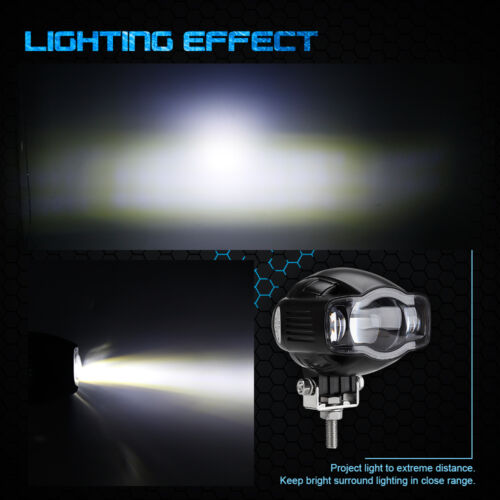 CREE Motorcycle Car 20W LED Spot Driving Fog Lamp Auxiliary DRL Light w//USB Port