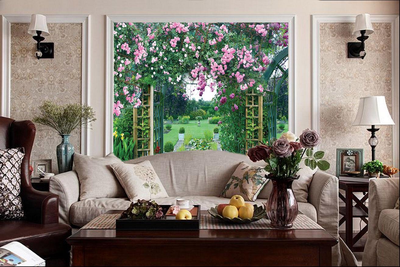 3D Prachtvolle gärten 5632 Fototapeten Wandbild Fototapete BildTapete Familie