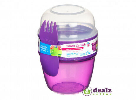 Sistema Snack capsule pour aller Déjeuner Nourriture Friandises pot école travail 515 ml BPA free
