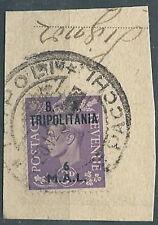 1950 TRIPOLITANIA USATO OCCUPAZIONE INGLESE BA 6 M - RR5232
