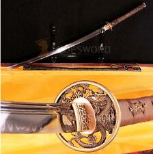 HAND FORGED JAPANESE SAMURAI KATANA T10 STEEL CLAY TEMPERED SHARP BLADE SWORD