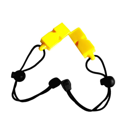 2x Safety Whistle /& Lanyard for Emergency Survival Scuba Diving Water Sports
