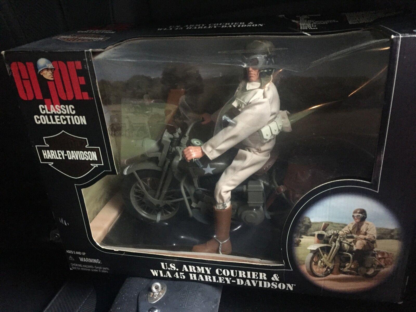 GI JOE U.S. Army Courier & WLA 45 Harley Davidson NEW