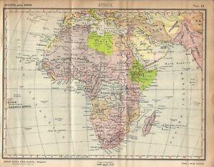 Cartina Giografica Africa.Carta Geografica Antica Africa Ante Seconda Guerra Mondiale 1940 Antique Map Ebay