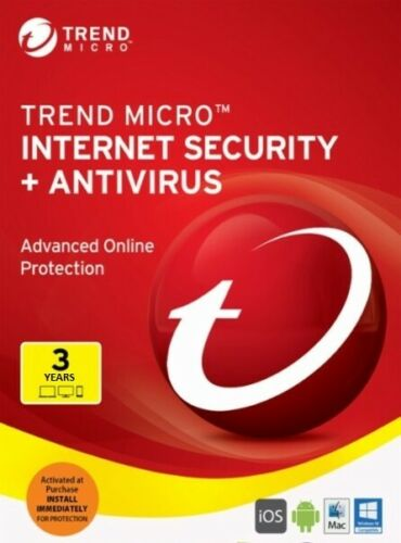 for Windows 3 Years for 1 Device! Version 2019 Trend Micro Internet Security