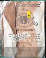 Vintage Black Outline Fully Fashioned Nylon Stockings Unopened Free Organza Bag
