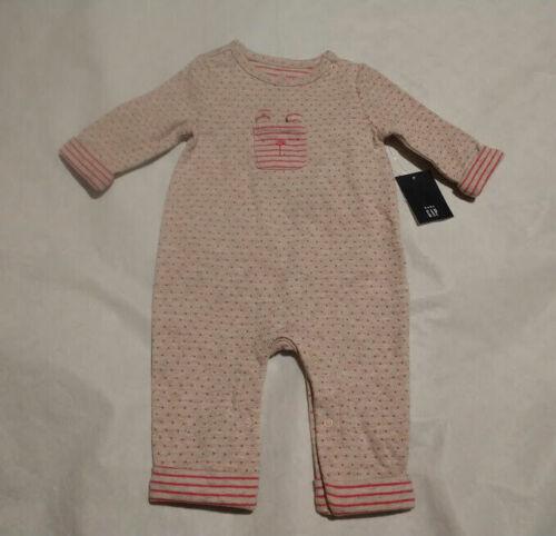 NWT Baby Gap Girls Brannan Bear Pocket Romper One Piece