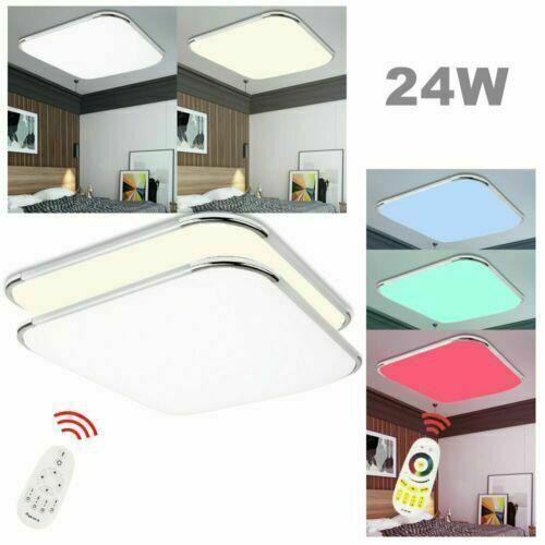 LED Deckenleuchte Badleuchte12-96W Küche Deckenlampe Wohnzimmer Silber Flur