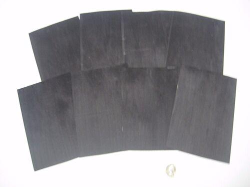 Lot #111 1 Lot Of 8pcs Dyed Black Raw Veneer Shorts