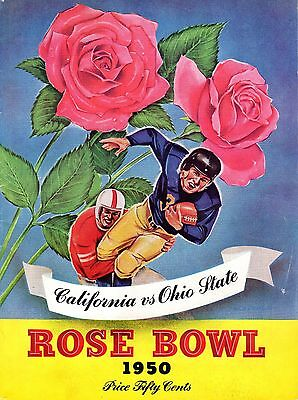 1950 Rose Bowl Football program Ohio State Buckeyes vs. California ...