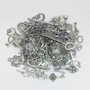 Tibetan-Wholesale-Vintage-Steampunk-Mixed-Keys-Pendants-DIY-Craft