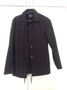 Poches Gap 2 S Fixer Boutons Womans Jacket p Taille Black zcarUqz