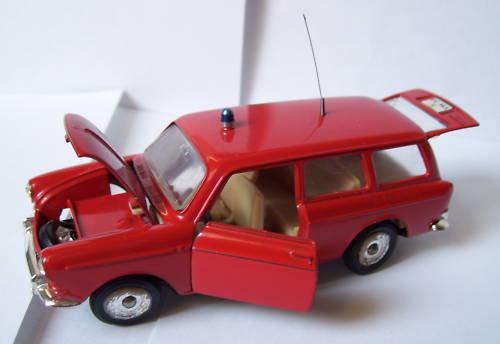 OLD MÄRKLIN VW VOLKSWAGEN VARIANTE 1600 L VIGILI DEL FUOCO 1/43