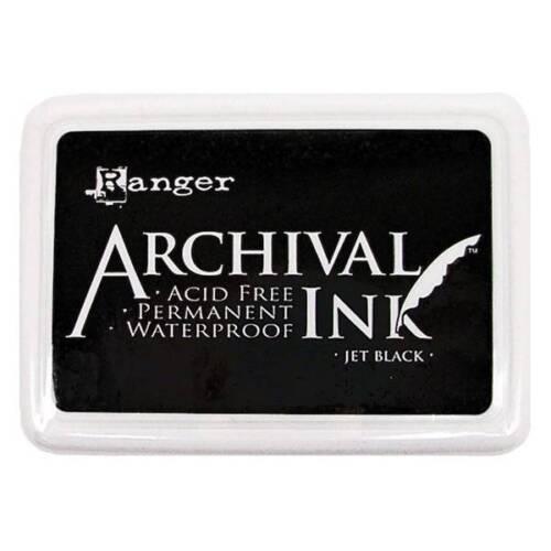 Ranger ARCHIVAL INK PAD 'JET BLACK' JUMBO 1pk Acid Free Permanent Card Making