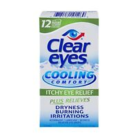 2 Pack - Clear Eyes Cooling Comfort Itchy Eye Relief Drops 0.50oz Each