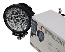 ROUND LED WORK LIGHT 42W watt Driving Auxiliary Industrial Pencil Spot Beam 2PK