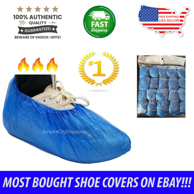 200x Disposable Over Shoes PE Plastic Boot Covers Boot Non-Slip Covers US Ship