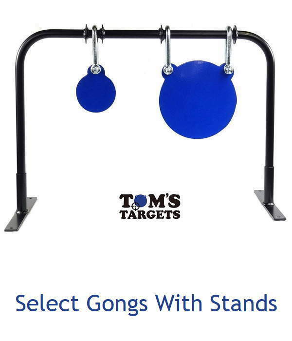 100mm & 200mm Gong Shooting Target set with Stand Hardox 500 Steel