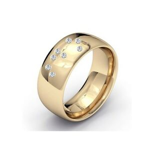 New Diamond set Wedding Ring Band Spells I DO In Braille Alphabet
