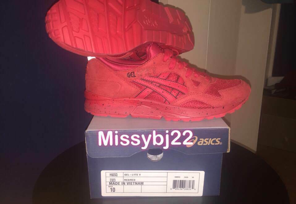 NIB men's size 10us ASICS athletic low sneakers in red.