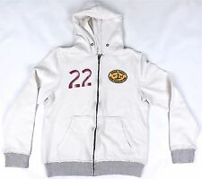 BRAND NEW HOLLISTER WHITE ZIPPED HOODIE SIZE SMALL