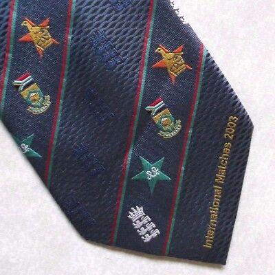 Fiducioso Vintage Cricket Cravatta Da Uomo Cravatta Retro International Corrisponde A 2003 Sudafricano-mostra Il Titolo Originale