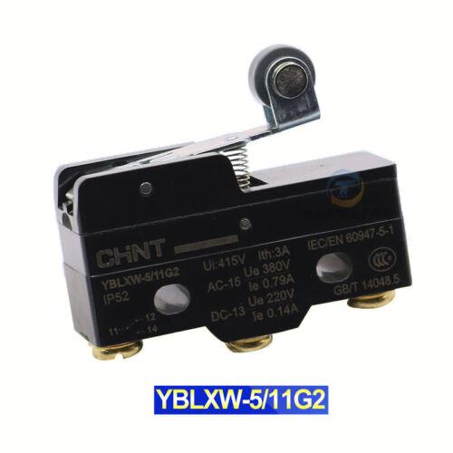 Límite/Micro Switch Bisagra Rodillo De Palanca Corta SPDT Contacto de plata YBLXW5-11G2