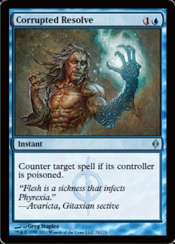 English New Phyrexia MTG Magic 4x Corrupted Resolve NM-Mint