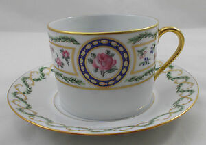 Haviland-Limoges-LOUVECIENNES-large-breakfast-cup-and-saucer-UNUSED