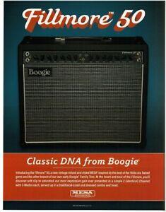 2018 MESA BOOGIE Fillmore 50 Amplifier magazine ad