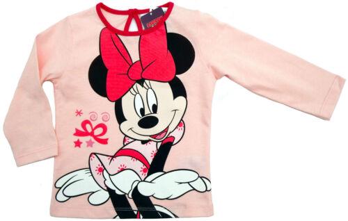 Neu!Disney Minnie Mouse Langarmshirt Shirt Pulli Longsleeve rosa 80 86 92