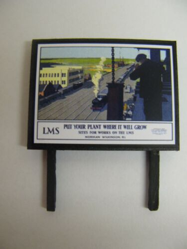N /& OO Gauge Model Railway Billboard Put your plant where it will grow