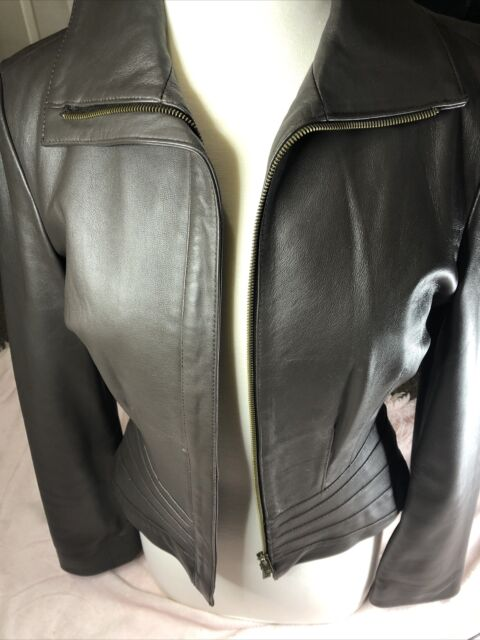 BeBe Jacket mid-waist Woman's size M Chocolate Brown