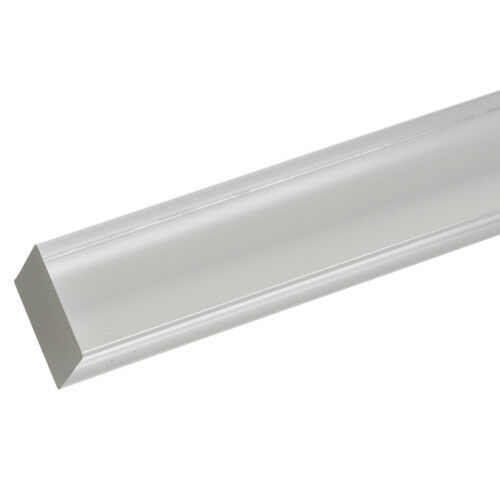"""2qty Extruded Acrylic Square Rod 1//2/"""" x 3ft Clear Nominal"""