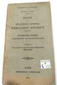 Projet de Règlement général d'Education Physique 1921 4e partie