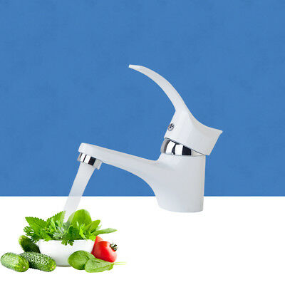 E Pak Small Bathroom Single Handle Basin Sink Faucet White