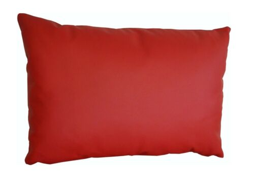 Rot Lederkissen Echt Leder Sofa Dekokissen Kissenhüllen Echtleder Rückenkissen