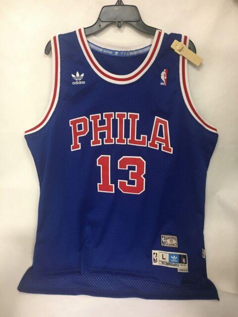 13f367136 Adidas Soul Swingman Philadelphia 76ers Wilt Chamberlain 13 Blue Men s  Jersey- L