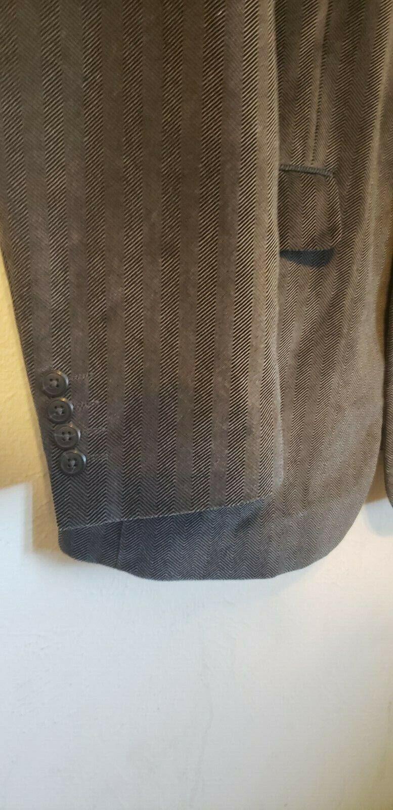 Michael Brandon blazer grey patterned velvet, ou… - image 5